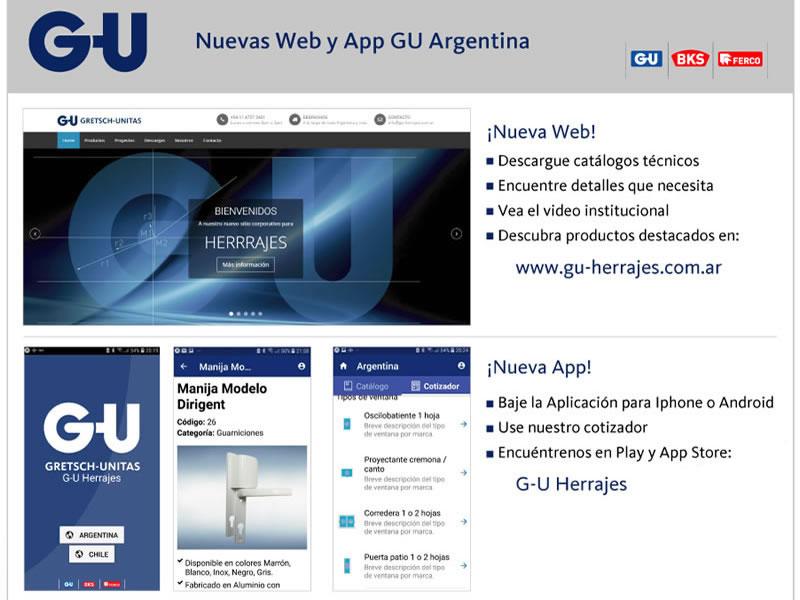 App G-U Herrajes en Android e iOS