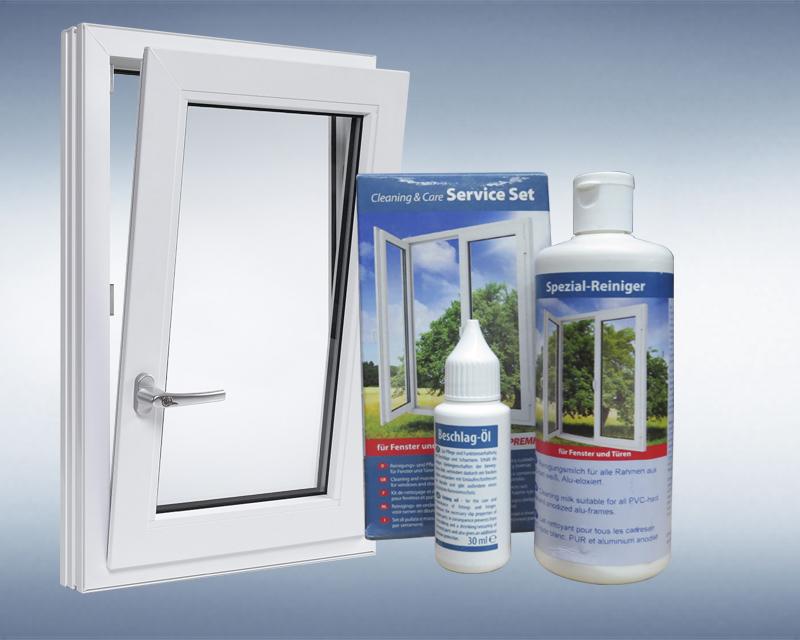 Kit de limpieza para ventanas de PVC